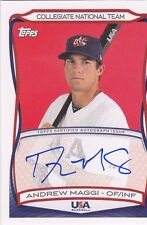 2010 TOPPS USA BASEBALL ANDREW MAGGI AUTHENTIC AUTOGRAPH CARD