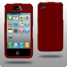 Rojo duro híbrido posterior Funda Para Apple Iphone 4 4g