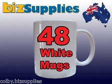 48x White Dye Sublimation Coffee Mug Cup + Gift Box - Dishwasher Proof 11OZ