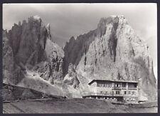 TRENTO COL RODELLA 09 RIFUGIO DES ALPES SASSOLUNGO Cartolina FOTOGR. viagg. 1962