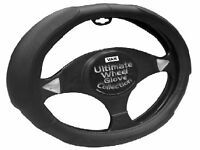 New Black Super Soft Extra Padded Grip Large Van Size Steering Wheel Cover Glove