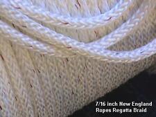 "7/16""  x 68 feet Regatta Braid Rope White - Polyester Single Braid Rope"