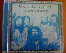 Gentle Giant Live In New York 1975 CD NEW SEALED