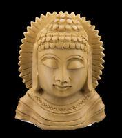 Soprammobile Testa Da Budda Nirvana Figurina Per IN Legno Intagliato Fatto, 1551