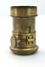 antique VICTORIAN BRASS LENS  MAGIC LANTERN / CAMERA / PHOTOGRAPHY