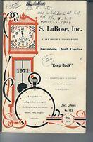 MG-004 - S. LaRose, Inc Keep Book, 1971 Illustrated Clock Part Catalog Vintage