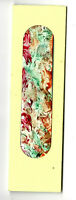 Handmade Bookmark Abstract Art Flowers Paiting Red Orange Green Yellow Val Parks