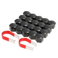 20pcs 17mm Car Plastic Caps Bolts Covers Nuts Alloy Wheel For Skoda Black J1H2