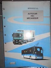 RVI Renault autocar FR1 : document technique CEPTEC - Mecanique