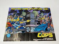 Vintage Cops N Crooks HASBRO DC Catalog POSTER 1988 RARE Collectible