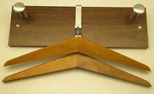 Wall or Door Mount Office & Home Hanging COAT RACK w/ Hangers ~ Wood & Metal DD