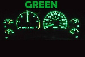 Gauge Cluster LED Dashboard Bulbs Green For Chevy Blazer S10 GMC Jimmy 01 05