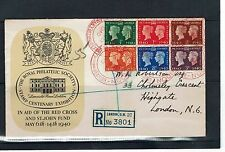Red Cross Great Britain First Day Covers (Pre-1952)