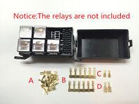 Automotive Relay Box Relay Socket Fuse Relay Holder 6 Relay 5 Road Insurance Kit