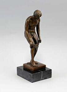9937930-dss Signed Patoue Sculpture Bronze Figure Männer-akt Erotic