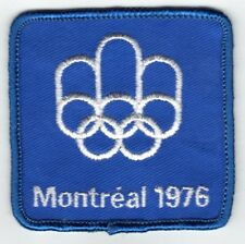 WORLD SUMMER OLYMPIC GAMES MONTREAL 1976 OFFICIAL SOUVENIR PATCH