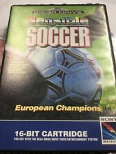 Sega Mega Drive Football Video Games with Manual