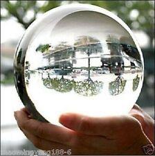 100mm+Stand Asian Rare Natural Quartz Clear Magic Crystal Healing Ball Sphere AA