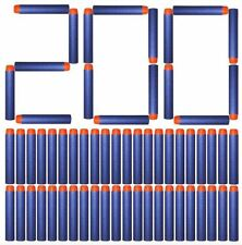 200pcs 7.2cm Refill Bullet Darts for Nerf Blasters Toy Blue