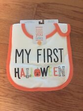 Carters Just One You My First Halloween Baby Teething Bib Water Resistant New