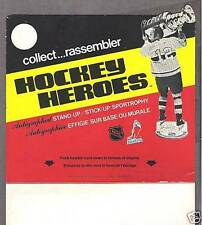 1975 Hockey Heroes Display Box Panel, Yvan Cournoyer & StanleyCup