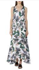 BNWT Reiss Silk Palm Print Maxi Dress - Size 8