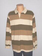 CAMEL ACTIVE Herren Poloshirt Langarm Shirt Gr.XL braun gestreift  W08/R9