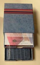 "Creative Memories PicFolio Mini Album w/ Red & Blue 2""X3"" Albums Drawer Box NEW"