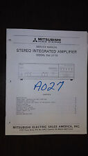 mitsubishi da-u110 service manual original Repair stereo integrated amplifier