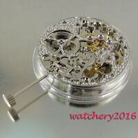 17 Jewels silvery stents 6497 Mechanical Hand Winding Parnis Watch Movement