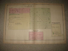 ANTIQUE 1877 BUENA VISTA BLUMFIELD TOWNSHIP SAGINAW COUNTY MICHIGAN HANDCOLR MAP
