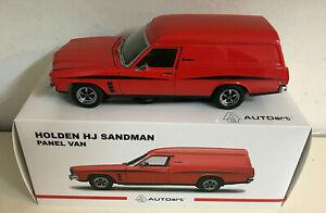 HOLDEN HJ SANDMAN MANDARIN RED PANEL VAN 1:18 SCALE MODEL CAR AUTOART 73368