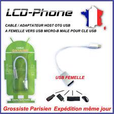 CABLE / ADAPTATEUR HOST OTG USB A FEMELLE VERS USB MICRO-B MALE POUR CLE USB