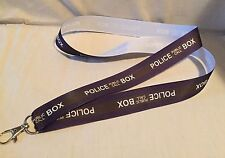 Doctor Who Police Box Inspired Lanyard Made w Lightweight Ribbon