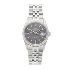 Rolex Datejust Steel Auto 36mm Engine Turn Bezel Mens Watch Bracelet 16220
