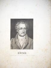 GÖTHE GRAVURE XIXème