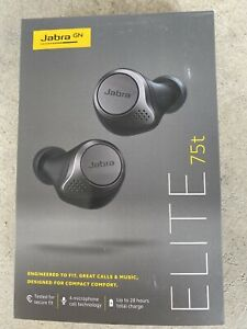 Jabra  Elite 75t True Wireless Bluetooth Headphones Titanium Black In Ear