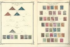Cape Good Hope Collection 1853 to 1904 on 3 Scott Specialty Pages, Loaded