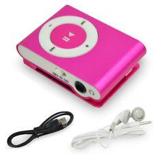 Mini Practical USB Clip MP3 Player 16GB Micro SD Card LCD Music Media Pink Hot