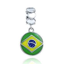 Brazilian Flag Pendant Charm - Brazil Olympics Memorabilia Jewellery
