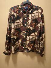 Vintage Solutions Original Women's Equestrian Blouse Top Sz Large