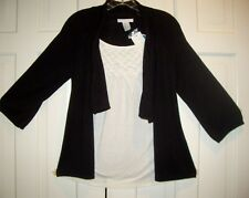 NWT Design History Cardigan Sweater & Tunic IN ONE size  Small