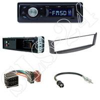 Caliber RMD021 Autoradio + Smart ForTwo A450  Blende grau + ISO Adapter Set