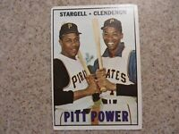 TOPPS 1967 PIT POWER STARGELL, CLENDENON CARD NO.266