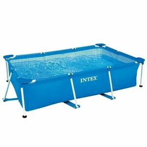 Intex Rectangular Frame Above Ground Swimming Pool; Blue, 8.5ft x 5.3ft x 26In