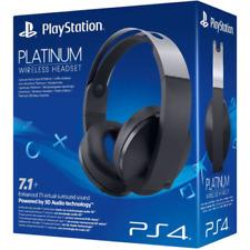 Sony PlayStation Wireless Headset Platinum virtueller 7.1 Surround Sound (PS4)