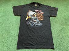 Vintage 1986 3D Emblem Truckers Only Wild & Free Single Stitch T-Shirt L Nos