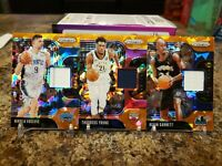 🔥PRIZM ORANGE CRACKED ICE GAME WORN PATCH LOT GARNETT, YOUNG, & VUCEVIC🔥