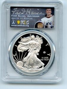 2020 W $1 American Proof Silver Eagle V75 Privy WWII PCGS PR69DCAM Fred Haise