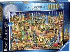 "Ravensburger ""World Landmarks Ar Night"" - 1000 Piece Jigsaw Puzzle- NEW!"